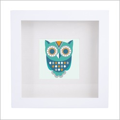 Urban Nest Designs - Patterned Owl Print Colour: Pink - Wall Art