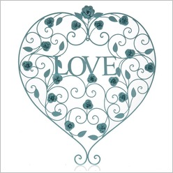 Stoneleigh & Roberson - Metal Love Heart Wall Art (Set of 2) Colour: Warm Grey - Wall Art