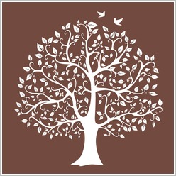Urban Nest Designs - Neutral Tree Silhouette Screen Printed Canvas - Wall Art