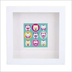 Urban Nest Designs - Patchwork Owl Print - Wall Art