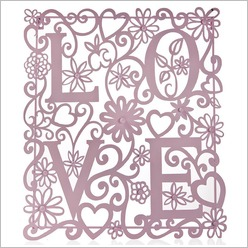 Stoneleigh & Roberson - Metal Love Wall Art (Set of 2) Colour: Pink / Purple - Wall Art