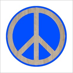 SoundslikeHOME - Mangowood Peace Sign Artwork - Wall Art