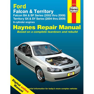 Haynes Manuals on Line - Ford Falcon BA/BF & Territory SX/S