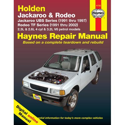 Haynes Manuals on Line - Holden Rodeo & Jackaroo