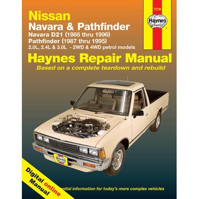 Haynes Manuals on Line - Nissan Navara D21/Pathfinder 2WD & 4WD