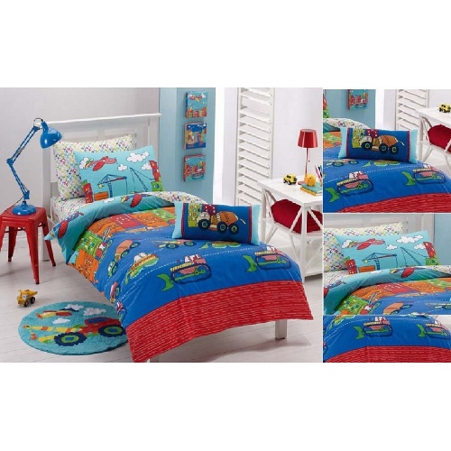 Construction | Double quilt cover set by Jiggle & Giggle