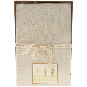 Natures Purest Bamboo Knitted Baby Cot Blanket