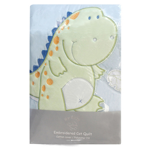 Dino Embroidered Quilt