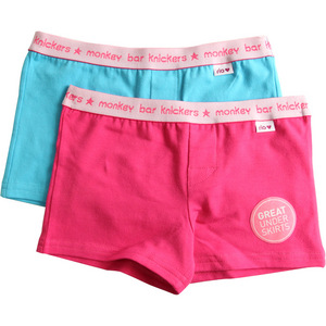 Rio Girls 2 Pack Monkey Bar Knickers - Pink/Blue - Size 8/10