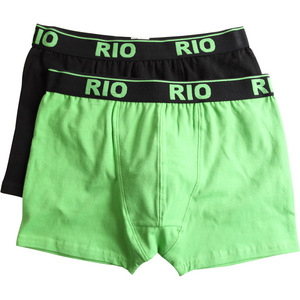 Rio Boys 2 Pack Hot Colours Trunk - Green - Size 8/10