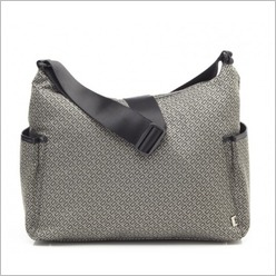 OiOi - Hobo Signature Classic Nappy Bag in Taupe / Black - Nappy Bags