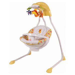 Red Shirt Pooh Cradle Swing
