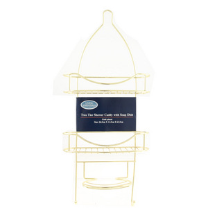 Living Essentials Two Tier Shower Caddy - Gold