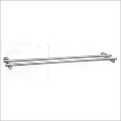 Ostar - Double Towel Rail in Satinless Steel Size: 60cm - Bathroom Accessories