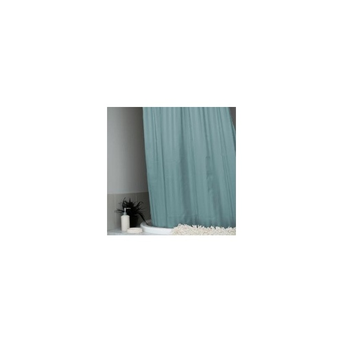 Satin Stripe Shower Curtain Azure Blue 180 x 180cm