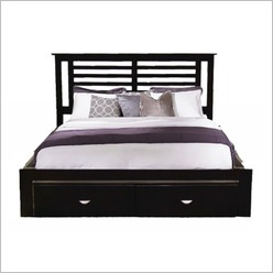 By Designs - Kobe Bed in Chocolate - Beds