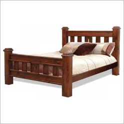 Bay Street - Spring Bed and Slat in Rough Sawn Size: Queen - Beds