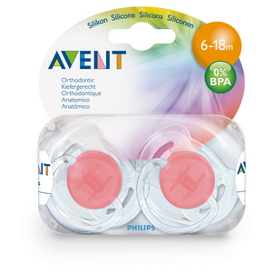 Philips Avent 6-18Mth Translucent 2Pk Soother