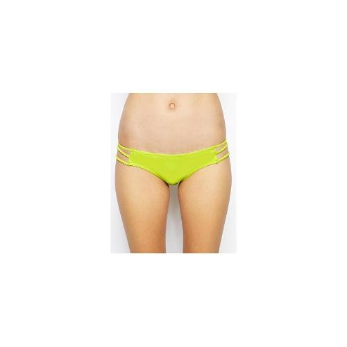ASOS Multi Strap Lattice Side Bikini Pant - Beat green
