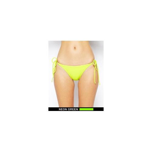 ASOS Neon Tie Side Bikini Pant - Beat green