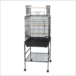 Bono Fido - 63.5cm Bird Open Top Parrot Cage with Stand - Bird Cages