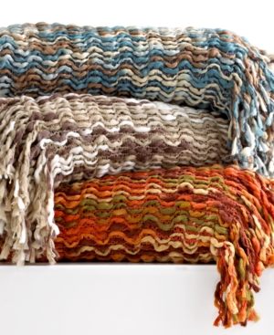 Westerly Bedding, Space Dye Crochet Knit Throw Bedding