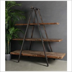 Phil Bee Interiors - Industrial Tripod Bookcase - Bookcases