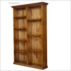 By Designs - Hadley 125 x 200 Stagered Bookcase Colour: English Oak - Bookcases