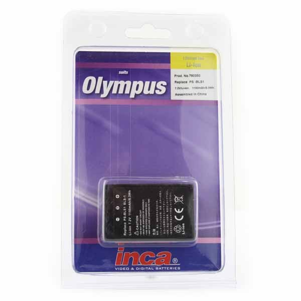 Inca Olympus BLS-1 Battery