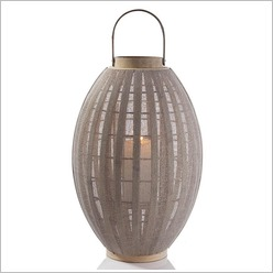Stoneleigh & Roberson - Bamboo Lantern with Mesh Covering (Set of 2) Size: 70cm - Candles & Candle Holders
