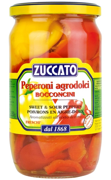 Zuccato Sweet & Sour Peppers 680g 720ml