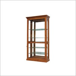 By Designs - Chan 103cm Chan Display Cabinet in Blackwood - Display Cabinets