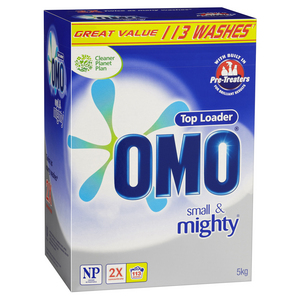 OMO 2 x Concentrate Top Loader Laundry Powder 5kg