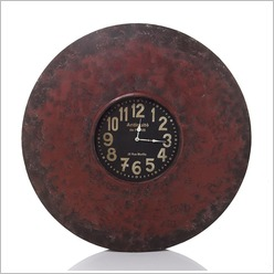 Stoneleigh & Roberson - Round Iron Clock with Magnets Colour: Black - Clocks