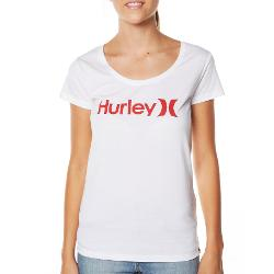 Hurley Womens Tees - Hurley One And Only Scoopful Tee Size Medium