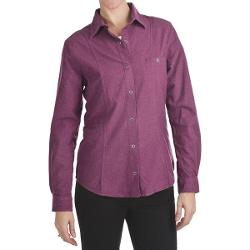 Woolrich Chamois Flannel Shirt - Snap Front, Long Sleeve (For Women) - MULBERRY HEATHER ( M )