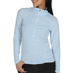 ExOfficio Teanaway Shirt - Zip Neck, Long Sleeve (For Women) - FROST ( XL )
