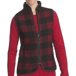 Woolrich Bristol Wool Vest (For Women) - RED/BLACK PLAID ( L )