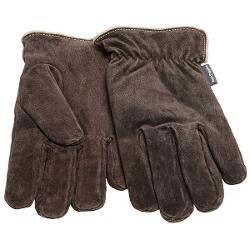 Hush Puppies Max Suede Gloves - Fleece Lining (For Men) - BROWN ( M )
