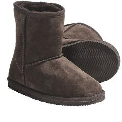 Lamo Suede Sheepskin Boots (For Youth, Boys and Girls) - CHOCOLATE ( 1 )