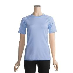 ExOfficio Sol Cool T-Shirt - UPF 50+, Short Sleeve (For Women) - LIGHT LAPIS ( L )