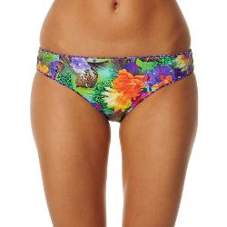 Miss Cocoa Womens Bikini Bottoms - Miss Cocoa Amazonia Gathered Side Pant Size 8