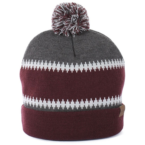 """Dickies North Dakota Bobble Beanie - Maroon"""