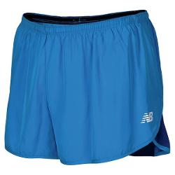 "New Balance Impact Split Shorts - Built-In Brief, 3"" (For Men) - ELECTRIC BLUE/SODALITE ( M )"
