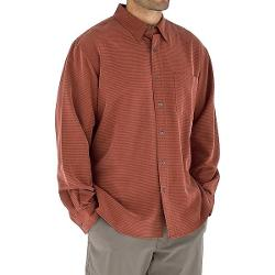 Royal Robbins Desert Pucker UPF Shirt - Sand Washed, Long Sleeve (For Men) - EMBER ( XL )