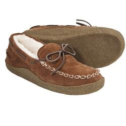 Acorn Yukon Moccasin Slippers - Suede (For Men) - PECAN ( 12 )