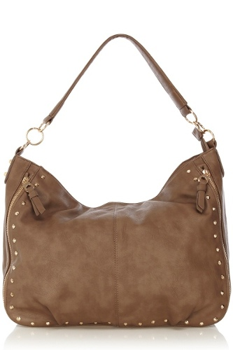 Studded Zippy Slouch Bag