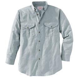 Filson Cotton-Wool Button-Down Shirt - Long Sleeve (For Men) - LIGHT GREY HEATHER ( L )