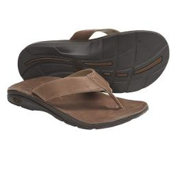 Chaco Flippin Brewhaha EcoTread Sandals - Flip-Flops (For Men) - LEATHER BROWN ( 10 )