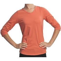 Woolrich Javona Stretch Cotton Tee - UPF 40+, 3/4 Sleeve (For Women) - CALYPSO ( L )